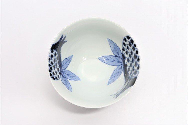 皓洋窯 染付ざくろ ほっこり飯碗 ペア 画像サブ3