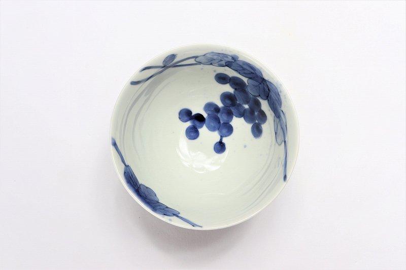 皓洋窯 染付吹墨ぶどう ほっこり飯碗 ペア 画像サブ5