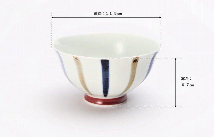 皓洋窯 染付二色サビ十草 ほっこり飯碗 ペア 画像サブ12