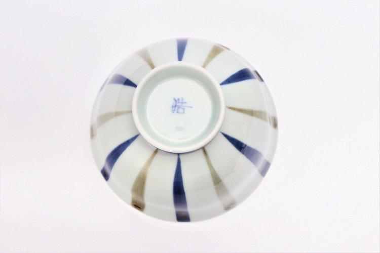 皓洋窯 染付二色サビ十草 ほっこり飯碗 ペア 画像サブ5