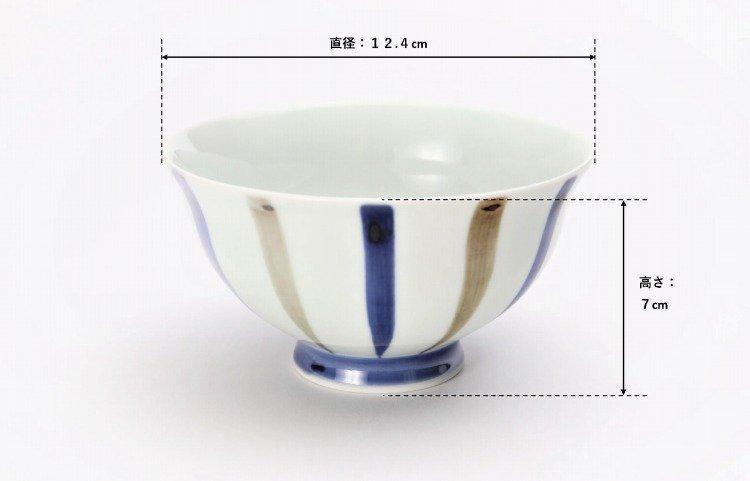 皓洋窯 染付二色サビ十草 ほっこり飯碗 ペア 画像サブ6