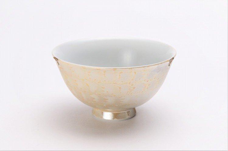 楽々シリーズ ラスターゴールド・シルバー ペア茶碗 (化粧箱入り) 画像サブ1