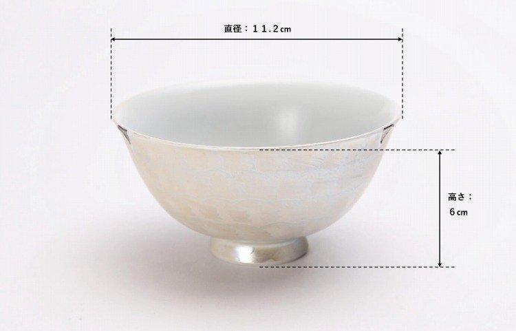 楽々シリーズ ラスターゴールド・シルバー ペア茶碗 (化粧箱入り) 画像サブ15