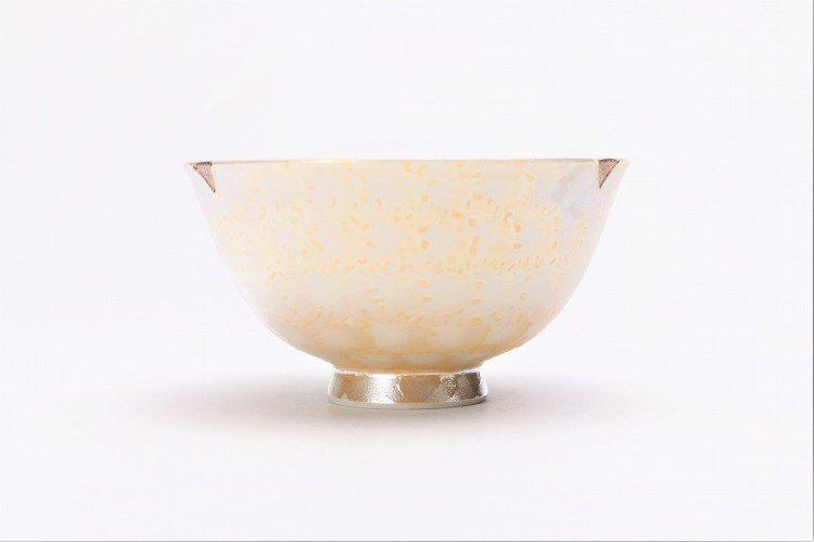 楽々シリーズ ラスターゴールド・シルバー ペア茶碗 (化粧箱入り) 画像サブ2
