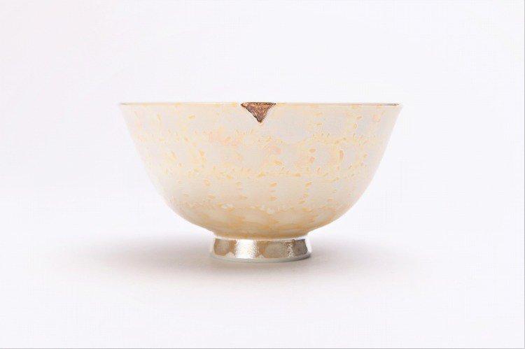楽々シリーズ ラスターゴールド・シルバー ペア茶碗 (化粧箱入り) 画像サブ3