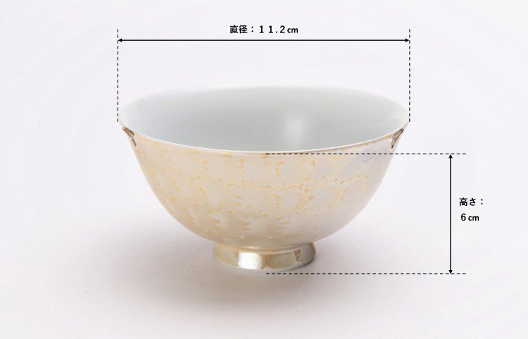 楽々シリーズ ラスターゴールド・シルバー ペア茶碗 (化粧箱入り) 画像サブ7