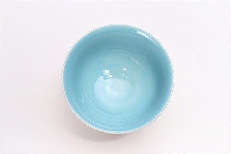 楽々シリーズ 色しずく(内ブルー・ピンク) ペア茶碗 (化粧箱入り) 画像サブ4