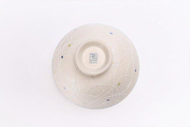 楽々シリーズ 色しずく(内ブルー・ピンク) ペア茶碗 (化粧箱入り) 画像サブ5