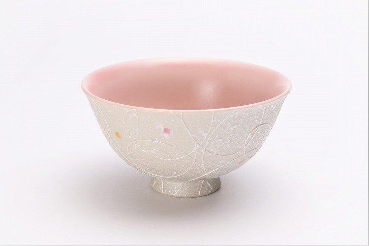 楽々シリーズ 色しずく(内ブルー・ピンク) ペア茶碗 (化粧箱入り) 画像サブ7