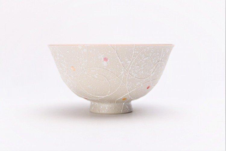楽々シリーズ 色しずく(内ブルー・ピンク) ペア茶碗 (化粧箱入り) 画像サブ8
