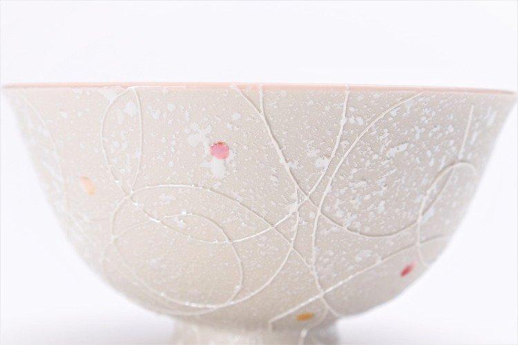 楽々シリーズ 色しずく(内ブルー・ピンク) ペア茶碗 (化粧箱入り) 画像サブ9