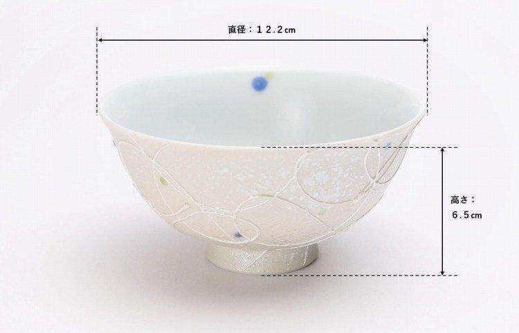 楽々シリーズ 色しずく ペア茶碗 (化粧箱入り) 画像サブ6