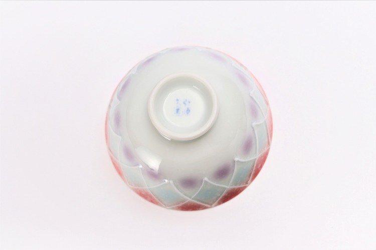 楽々シリーズ 三色ぼかし一珍 ペア茶碗 (化粧箱入り) 画像サブ11