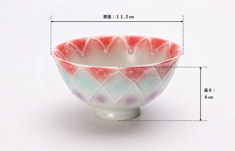 楽々シリーズ 三色ぼかし一珍 ペア茶碗 (化粧箱入り) 画像サブ12