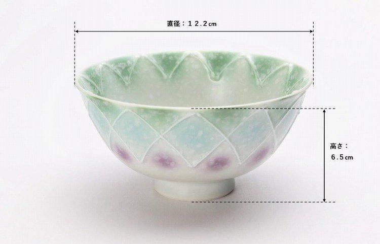 楽々シリーズ 三色ぼかし一珍 ペア茶碗 (化粧箱入り) 画像サブ6
