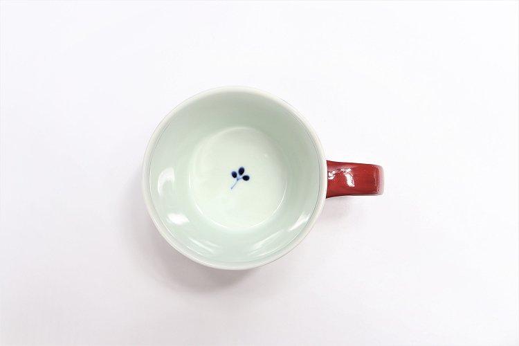 ☆皓洋窯 染付二色サビ十草 ペアカフェマグ 画像サブ10