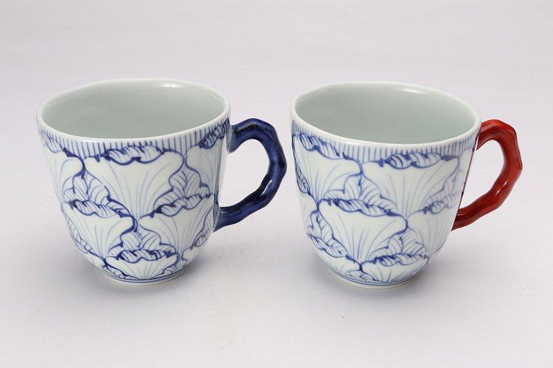 ☆そうた窯 染付花弁紋 ペアマグカップ 画像メイン