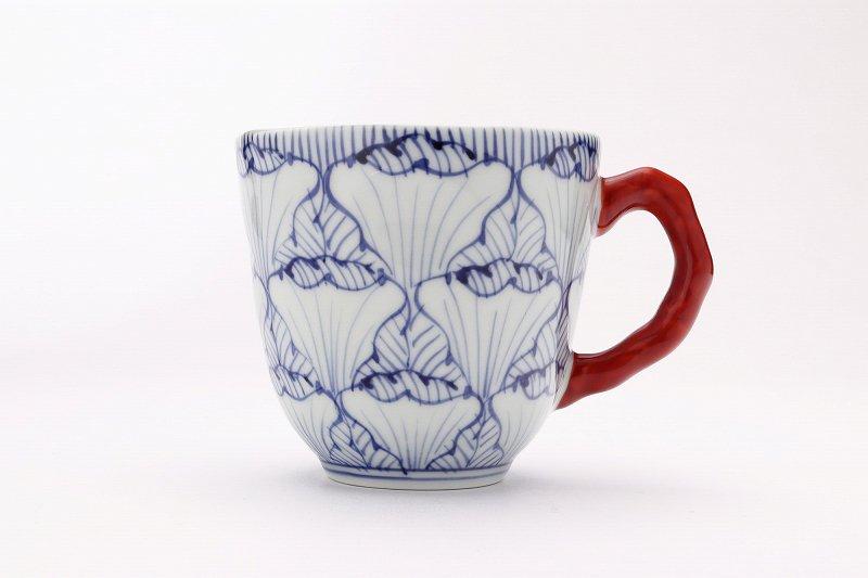☆そうた窯 染付花弁紋 ペアマグカップ 画像サブ4