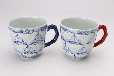 ☆そうた窯 染付花弁紋 ペアマグカップ