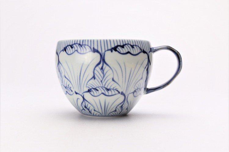 ☆そうた窯 染付花弁紋 ペア丸スープカップ 画像サブ2
