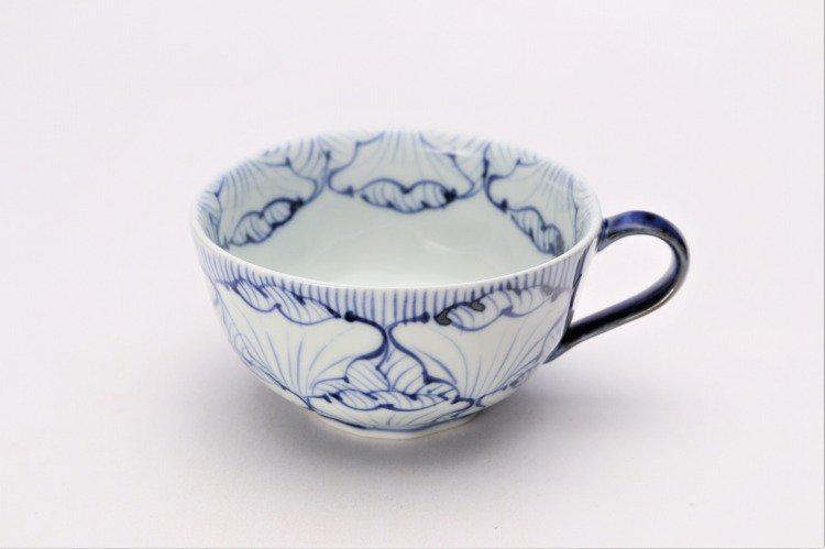 ☆そうた窯 染付花弁紋 ペアスープカップ 画像サブ1