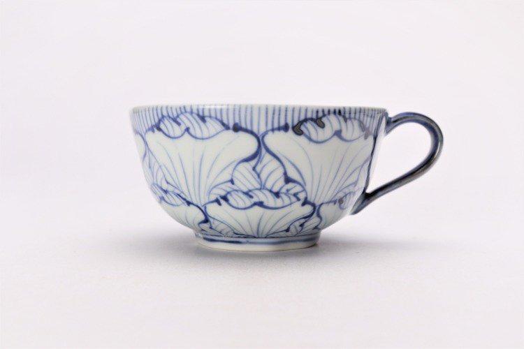 ☆そうた窯 染付花弁紋 ペアスープカップ 画像サブ2