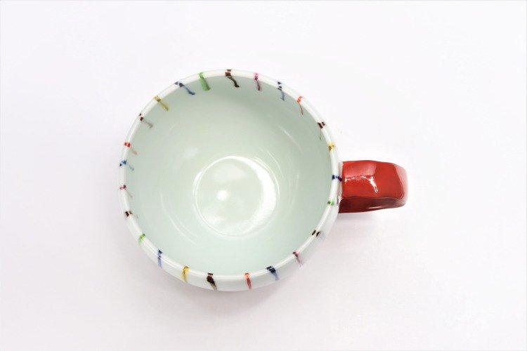 ☆そうた窯 染錦線十草 ペア丸スープカップ 画像サブ7