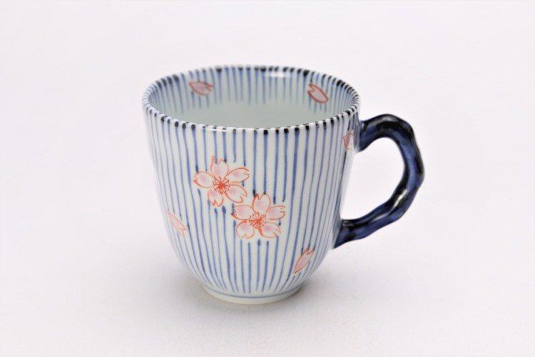 ☆そうた窯 染錦十草桜 ペアマグカップ 画像サブ1