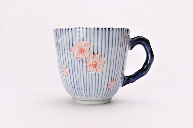 ☆そうた窯 染錦十草桜 ペアマグカップ 画像サブ2