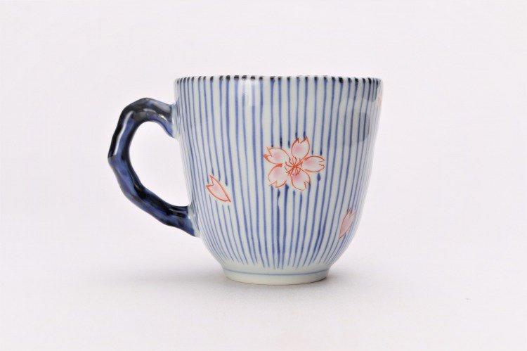 ☆そうた窯 染錦十草桜 ペアマグカップ 画像サブ3