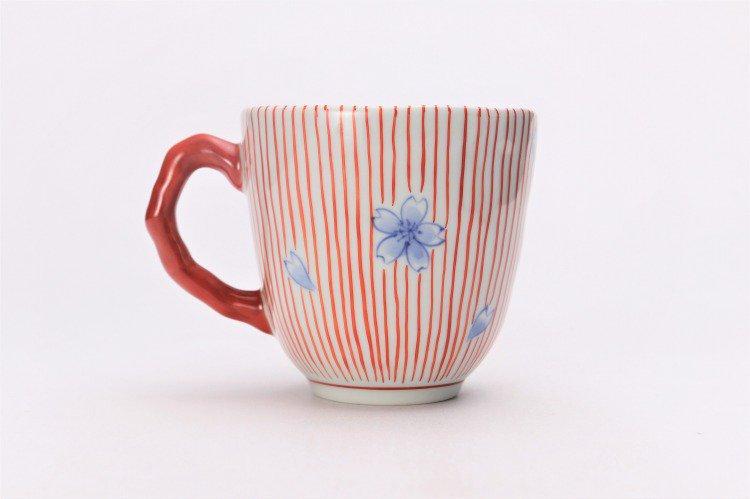 ☆そうた窯 染錦十草桜 ペアマグカップ 画像サブ8