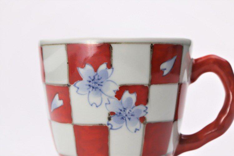 ☆そうた窯 染錦市松桜 ペアマグカップ 画像サブ10