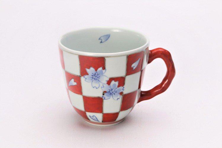 ☆そうた窯 染錦市松桜 ペアマグカップ 画像サブ7