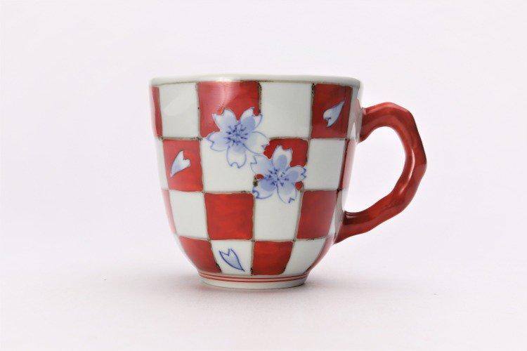 ☆そうた窯 染錦市松桜 ペアマグカップ 画像サブ8