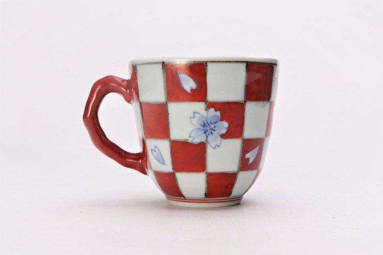 ☆そうた窯 染錦市松桜 ペアマグカップ 画像サブ9