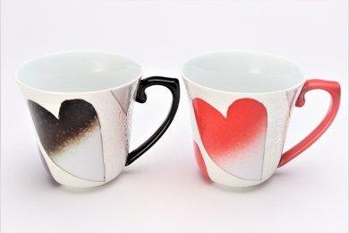 田清窯 バレンタイン ペアマグカップ