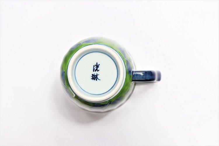 ☆洸琳窯 染錦鉄仙花 ペアマグカップ 画像サブ5