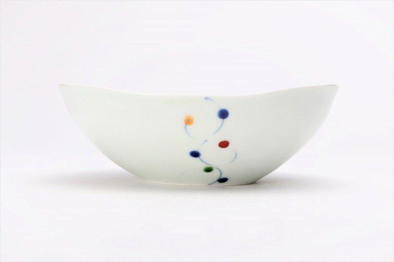 一峰窯 色玉帯 楕円浅小鉢 画像サブ2