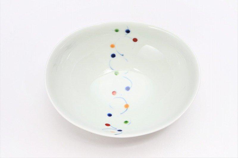 一峰窯 色玉帯 楕円浅小鉢 画像サブ3
