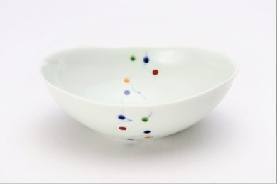 ☆一峰窯 色玉帯 楕円浅小鉢