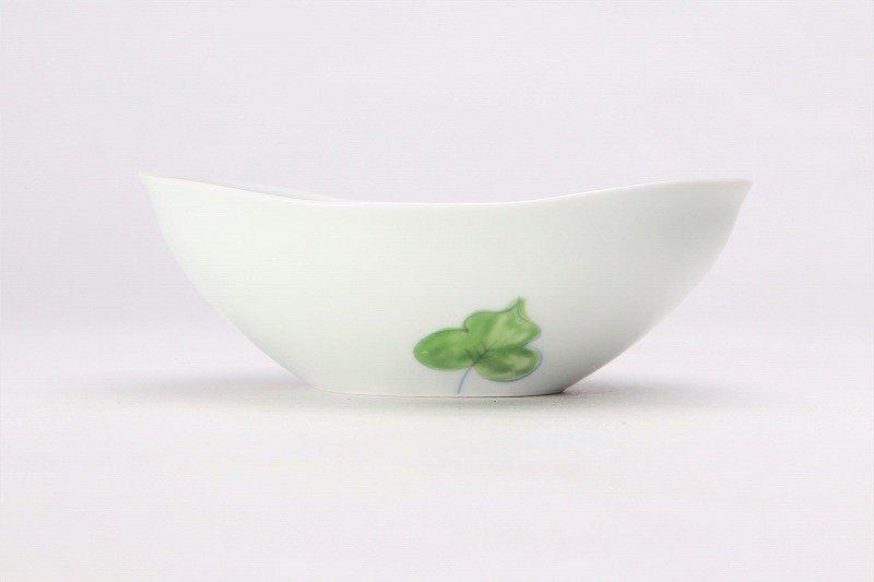 一峰窯 彩ぶどう 楕円浅小鉢 画像サブ1