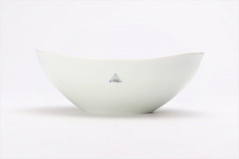 一峰窯 トライアングル 楕円浅小鉢 画像サブ1
