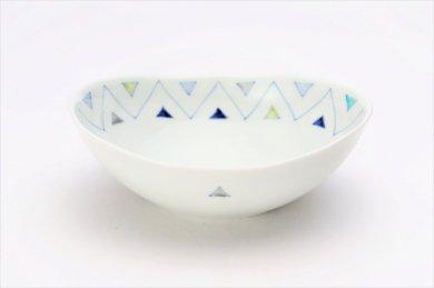 ☆一峰窯 トライアングル 楕円浅小鉢