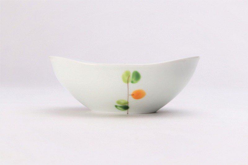 一峰窯 オリーブ(橙) 楕円小鉢 在庫1個 画像サブ1