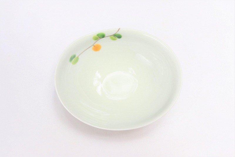 一峰窯 オリーブ(橙) 楕円小鉢 在庫1個 画像サブ2