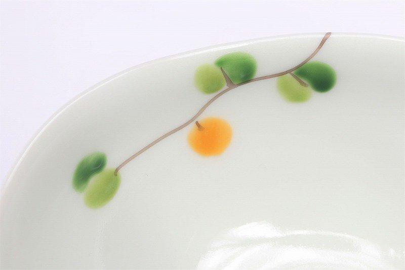 一峰窯 オリーブ(橙) 楕円小鉢 在庫1個 画像サブ3
