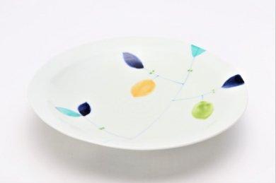 一峰窯 レモン 三角7寸皿