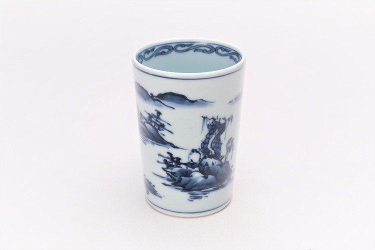 亮秀窯 古代山水フリーカップ 画像メイン