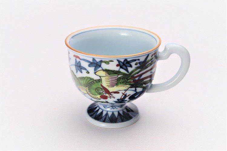 亮秀窯 錦鳳凰唐草 コーヒー碗皿 画像サブ1