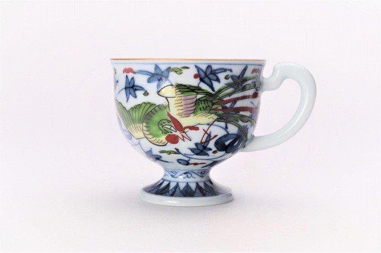 亮秀窯 錦鳳凰唐草 コーヒー碗皿 画像サブ2